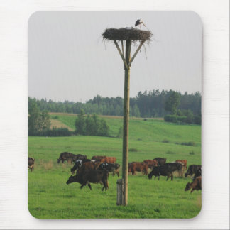 Cows herd mouse pad