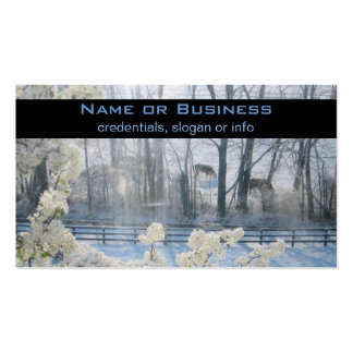 Cows in a field in winter Double-Sided standard business cards (Pack of 100)