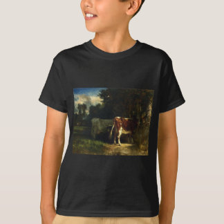Cows in a Landscape by Constant Troyon T-Shirt