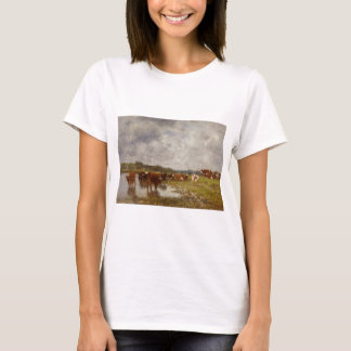 Cows in a Meadow on the Banks of the Toques T-Shirt