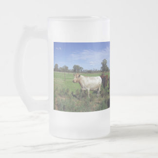 Cows_In_A_Paddock_Big_Frosted_Glass_Beer_Mug. Taza De Cristal