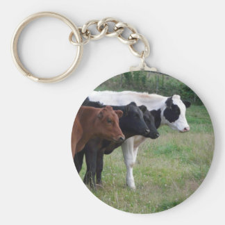 Cows in a Row Keychain