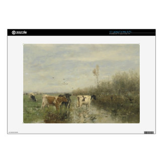 Cows in a Soggy Meadow Decal For Laptop