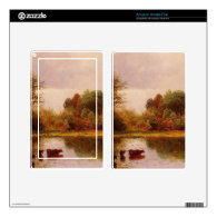 Cows In A Watering Landscape Albert Bierstadt Decal For Kindle Fire