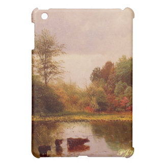 Cows In A Watering Landscape by Albert B. iPad Mini Covers