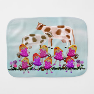 Cows in Field Baby Burp Cloth