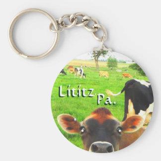 Cows in Lititz Pa. Keychain