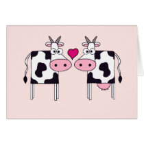 Cows in Love Card