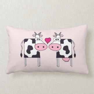 Cows in Love Lumbar Pillow