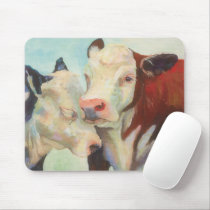 Cows In Love Mouse Pad