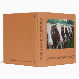 Cows in Row Vinyl Binder