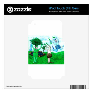 Cows in Skirts and Dresses Decal For iPod Touch 4G
