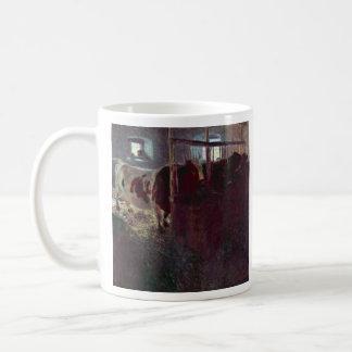 Cows in Stall by Gustav Klimt Coffee Mugs