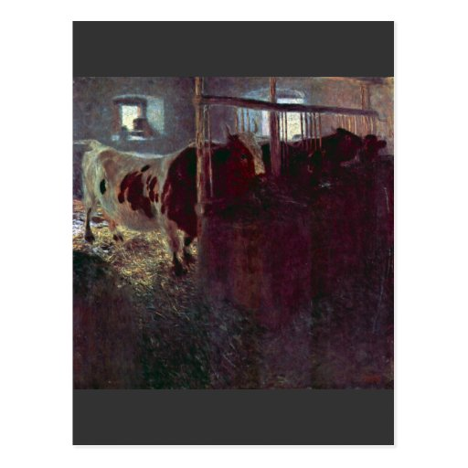 Cows in Stall by Gustav Klimt Postcard