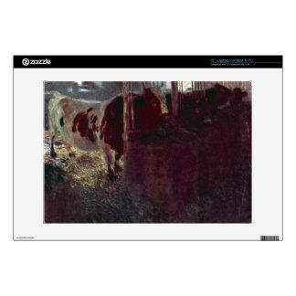 "Cows in Stall by Gustav Klimt 13"" Laptop Skin"