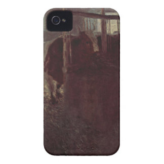 Cows in the barn by Gustav Klimt iPhone 4 Cover