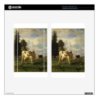 Cows in the Field by Constant Troyon Kindle Fire Skin