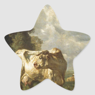 Cows in the Field by Constant Troyon Star Sticker