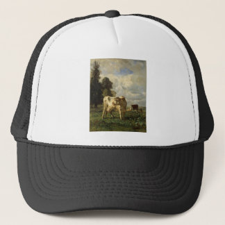 Cows in the Field by Constant Troyon Trucker Hat