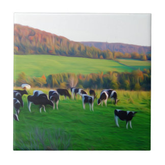Cows in the field tile