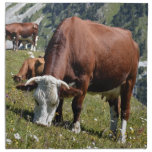 Cows in the French Alps Printed Napkin