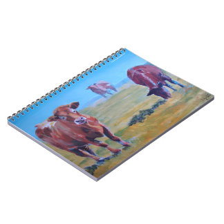 Cows in the hazy sun painting notebook