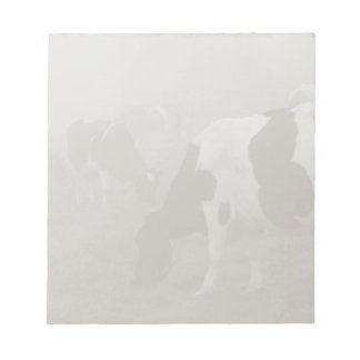Cows in the mist notepad