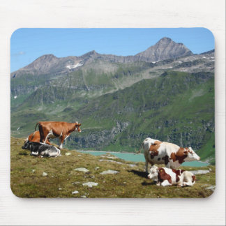 Cows In The Mountains Mouse Pad