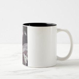 cows jump over the moon Two-Tone coffee mug