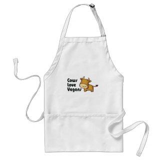 cows love vegans adult apron