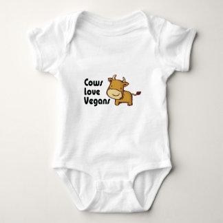 cows love vegans baby bodysuit