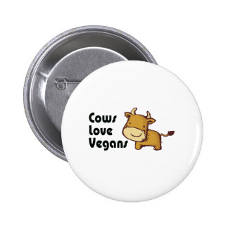cows love vegans pinback button