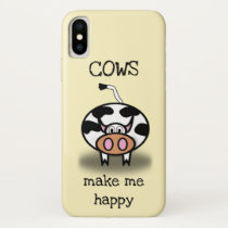 Cows make me happy iPhone x case