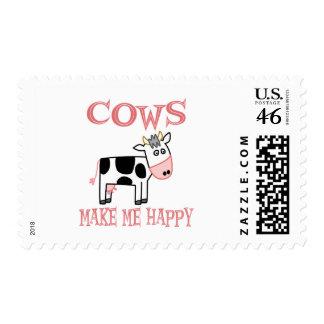 Cows Make Me Happy Postage