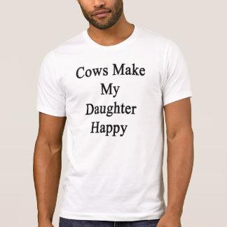 Cows Make My Daughter Happy Tshirt