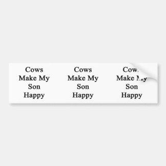 Cows Make My Son Happy Bumper Sticker