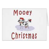 Cows: Mooey Christmas Card