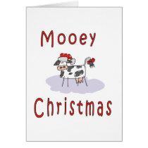 Cows: Mooey Christmas Card