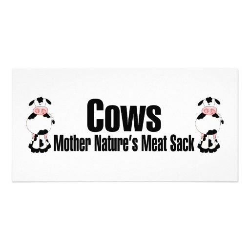 Cows Mother Natures Meat Sack Photo Card