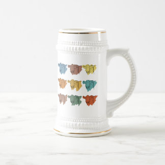 Cows of Many Colors Beer Stein