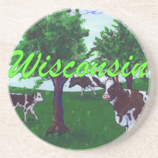 Cows of Wisconsin Drink Coaster