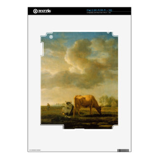 Cows on a Meadow by Adriaen van de Velde Skins For The iPad 2