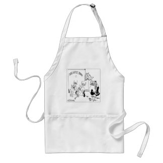 Cows on Coffee Break Adult Apron