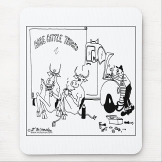 Cows on Coffee Break Mouse Pad
