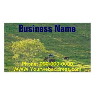 Cows On Hillside Farmland In Maine Business Card