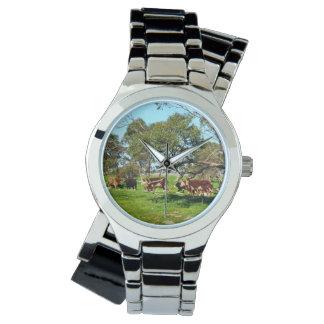 Cows_On_The_Range,_Ladies_Silver_Wrap_Watch. Wrist Watch