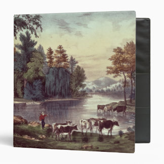 Cows on the Shore of a Lake Binders