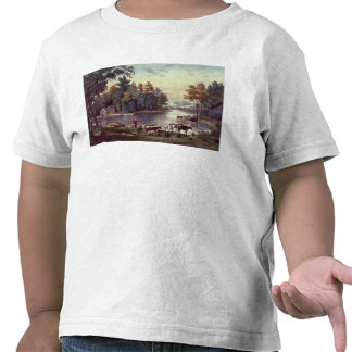 Cows on the Shore of a Lake T Shirts