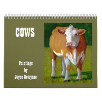 COWS: Original Artwork of Various Cows Calendar