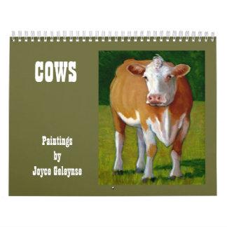 COWS: Original Artwork of Various Cows Calendar